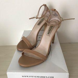 Steve Madden Stecy Natural Heel Sandal Size 8.5